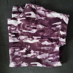 Womans purple camo tshirt